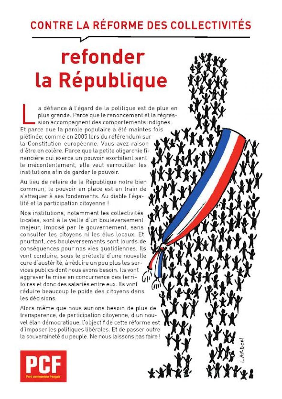 RÉFORME TERRITORIALE : STOP AUX MAUVAIS COUPS !